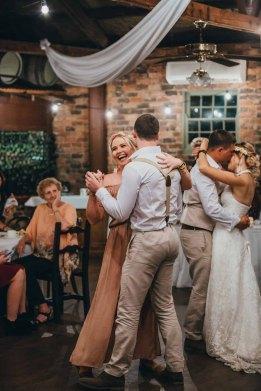 Bridal party dance at Gledswood Estate wedding